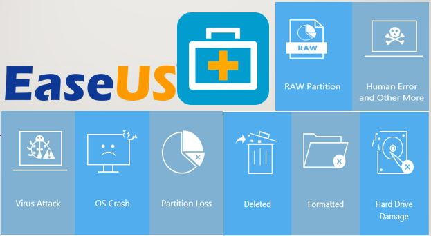 EaseUS Data Recovery Wizard Crack 13.7 + Serial Key 2021 [Latest]