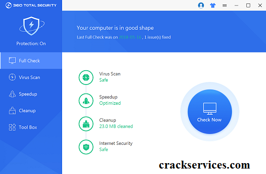 360 Total Security 10.8.0.1262 Crack With License Key 2021