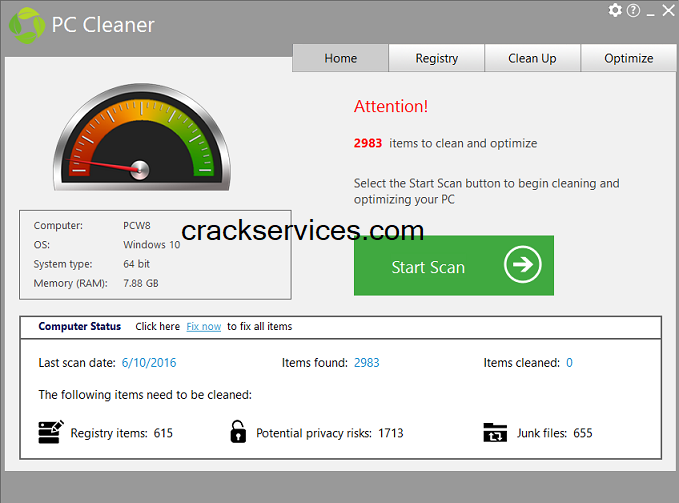PC Cleaner Platinum 7.4.0.11 Crack With Serial Key Free Download [2021]