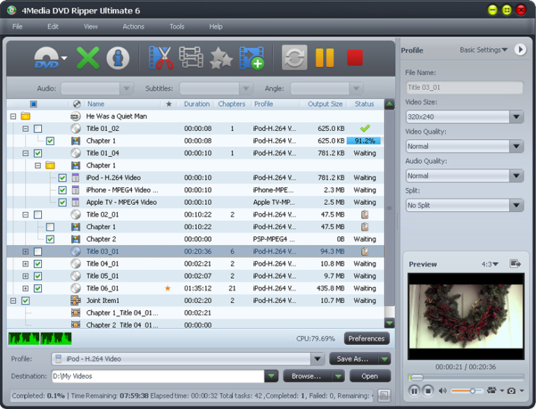 4Media HD Video Converter 7.8.24 Crack with Serial Key Free Download